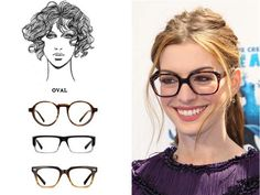 Best Eyeglass Frame For Long Face : Find the best glasses for your face shape Oval Oval face ...
