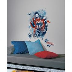 Add beauty to your indoor wall decor. x 27 in. Superman Man of Steel Distressed Graphic Peel and Stick Giant Wall Decals describes the product details with all necessary specifications. Wall Murals, Wall Decal, Decals, Superman Man Of Steel, Bear Cubs, Smallville, Birthday Fun, Dc Comics, Geek Stuff