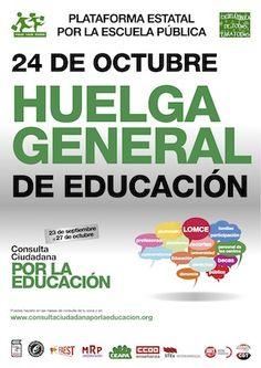 España, 24 octubre 2013: huelga general en la Educación