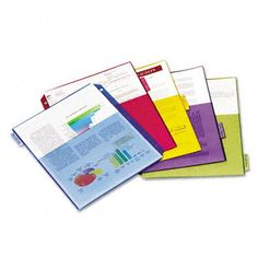 Cardinal Poly Index Dividers, Letter, Multicolor, 4 Sets/Pack Ring Binder, Packing, Dividers, Lettering, Pocket, Dorm Stuff, Filing, School Stuff, Products