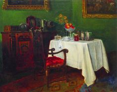 Konstantin Makovsky (Russian, 1839-1915) 'Still Life in an Interior', 1880-1900