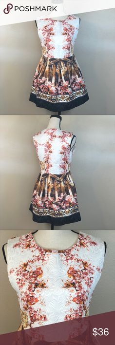 """YiYi Fit & Flare Roman design dress EUC. Like - new. Stunning Roman pattern and theme on this dress. No stretch. Material is 100% Polyester.   Approx measurements  Length- 30 Bust - 17.5"""" pit to pit laid flat  Waist - 16"""" across laid flat   Thanks for stopping by! Be sure to save $$ by bundling your likes!!  Open to reasonable offers 😎 Happy Poshing! 🛒🎁🛍 YiYi Fasion Dresses"""