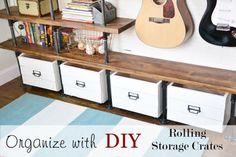 diy rolling storage crates DIY - get organized. @Traci Puk @ Beneath My Heart