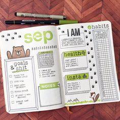 いいね!622件、コメント52件 ― Michelle Baxterさん(@quirkyheart)のInstagramアカウント: 「September dashboard all set! #planwithmechallenge #spreademwidesunday #pgwbulletjournals…」