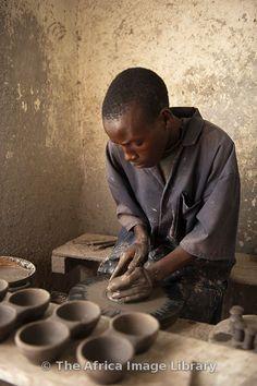 Batwa pottery, Gatagara, Rwanda