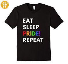 Eat Sleep Pride Repeat t-shirt - LGBT Pride shirts Herren, Größe 2XL Schwarz (*Partner-Link)