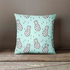 Pineapple Pillow - Decorative Pillow Slipcover - Mint - Pillow Cover - Decorative Pillow - Pillow Case - Pineapple Decor - Pillow Cover Gift