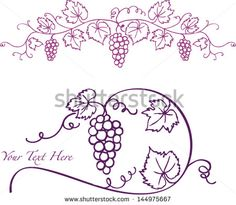 Grapevine Border Stock Photos, Images, & Pictures | Shutterstock