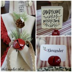 This Makes That: Jingle Bell Holiday Table Setting