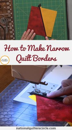 Dana Jones shows you two helpful techniques for making a narrow border on your quilts. She demonstrates each technique while teaching you how to put quarter inch strips into your quilts. Find out when to utilize this simple technique and see how beneficial these tips can truly be for you. Improve your quilting skills today with these quilting techniques for making narrow borders. Chevron Quilt Pattern, Quilt Patterns, Sewing Machine Thread, Circle Quilts, Quilt Border, Sewing Kit, Easy Quilts, Quilting Tips, Improve Yourself