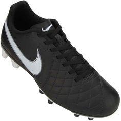 Chuteira  Nike Flare FG Campo Preta / Branca