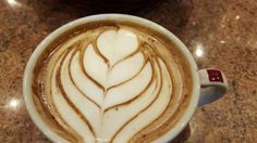 lovely Milk Art on Hot Chocolate Hot Chocolate Art, Milk Art, Latte, Tableware, Dinnerware, Tablewares, Place Settings, Latte Macchiato