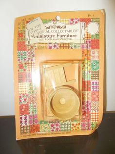 Washboard and Washtub Vintage Dollhouse Furniture Wooden Miniatures #Renwal