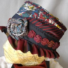 recycled necktie hat