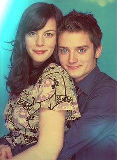 Elijah Wood and Liv Tyler. Just so we're clear, this is all wrong. She belongs with Viggo. Narnia, Lotr Cast, Concerning Hobbits, The Hobbit Movies, Elijah Wood, Ian Mckellen, Middle Earth, Lord Of The Rings, Cinema