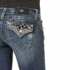 Miss Me Size 26, Black Leather & Studs Dark Wash Boot Cut JP8494B NWT $109.50 #MissMe #BootCut