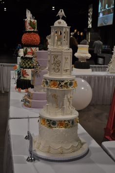 This cake won the wedding cake competition at Canada's Baking and Sweets Show in Toronto. Part of it was inspired by Queen Elizabeth II's 1947 wedding cake.