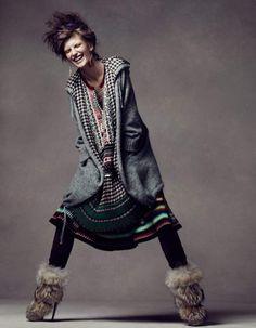 Valerija Kelava for Vogue China November 2010