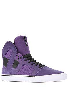 The Pilot Sneaker in Purple Waxed Suede