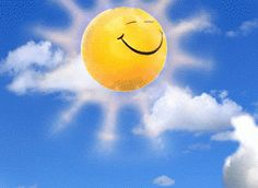 Smiley faced sun on the way to start the day Gif Animé, Animated Gif, Animated Emojis, Funny Emoticons, Smiley Emoji, Good Morning Gif, Beautiful Gif, Animation, Gif Pictures