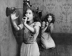 Lillian Gish & Dorothy Gish in An Unseen Enemy (1912, dir. D.W. Griffith)