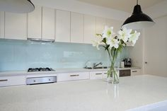resene splashback colours blue with white kitchen - Google Search