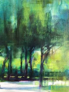 More Than Enough painting of trees in a park by Karen Wykerd | StateoftheART