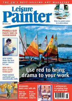 Learn how to paint changing skies and aerial perspective with confidence as you join Pamela Kay on the second leg of her journey down the coast of Afr. Art Tutor, Acrylic Painting Tutorials, Selling Art, Textile Artists, Learn To Paint, Art Activities, Magazine Art, Painting & Drawing, Landscape Paintings