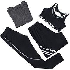 Vêtements de yoga Costume Vêtements de fitness pour femmes Sports de course  à pied à séchage rapide Shorts à manches longues Pantalons Soutien-gorge de  ... 635980598cf