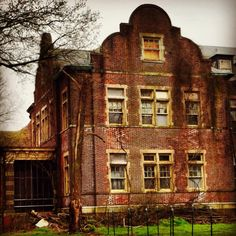 The abandoned Pennhurst Mental Hospital was opened in 1908 as a state school for the mentally and physically disabled. It was closed down in 1987.