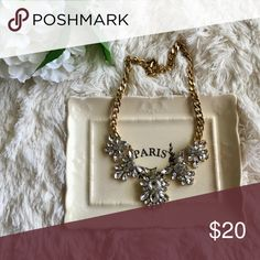 """Hannah"" Crystal Statement Necklace Perfect with any outfit in your closet! Chain measures about 19"" with a 1.5"" extender. Bedecked & Bedazzled Jewelry Necklaces"