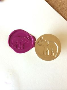 This listing is for one piece of ELEPHANT design wax seal stamp with wooden handle. Gives a great look when being used on invitation cards, gift