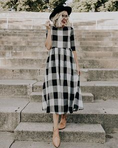 You GUYS! I have designed a lot of ROOLEE dresses over the years, but I've been anxiously waiting for the launch of this dress since we received the first sample 6 months ago.  We have put everything into perfecting this design + I'm so excited to announce the 'Maddie Buffalo Plaid Dress' goes live tomorrow night with the rest of our new arrivals at 7:00PM MDT!
