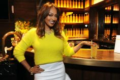 LaLa Anthony looked fab in her yellow get-up at our TROPIX Launch Party! PHOTO by: Michael Simon/startraksphoto.com Launch Party, Get Up, Product Launch, Yellow, Sweaters, Dressing Up, Breien, Stand Up, Get Back Up