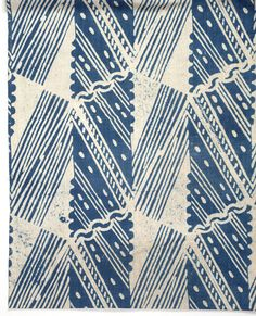 hazlitt block printed fabric by barron and larcher. 1920's-1930's.