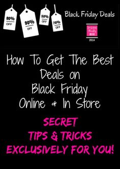 How To Get The Best Deals On Black Friday! Get prepared with these tips!