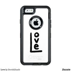Love Otterbox Phone Case  Be sure to check out the link for to meet your specific accessory need! (more style options!)  #phone #case #laptop #sleeve #tablet #love #emotion #word #text #letter #black #white #iphone #apple #ipad #samsung #galaxy #folio #folding #wallet #accessory #accessories #life #style #lifestyle #hip #cool #modern #chic #contemporary #design #fashion #gear #buy #sale #zazzle #tough