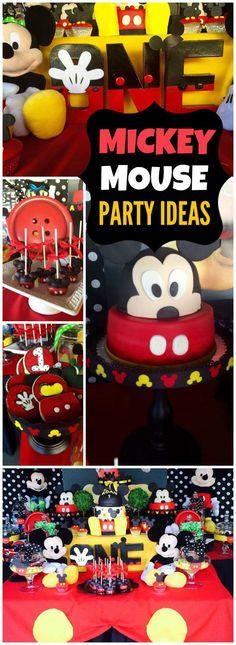 Check out this first birthday with Mickey and Minnie! See more party ideas at CatchMyParty.com!