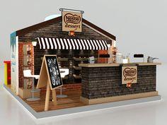 Cute storefront display idea ~ maggi & cake mix on Behance Display Design, Café Design, Kiosk Design, Retail Design, Store Design, Pop Display, Design Stand, Exhibition Stall, Exhibition Booth Design