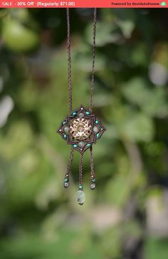 Boho headpiece Hippie necklace Brown Mandala necklace tribal jewelry boho necklace - gold filled mandala boho chic tiara This mandala