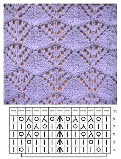 Awesome Knitting Ideas and Newest Knitting Models Lace Knitting Stitches, Lace Knitting Patterns, Knitting Charts, Easy Knitting, Knitting Socks, Stitch Patterns, Crochet Yarn, Top Pattern, Fashion Wear