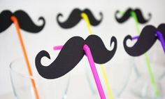 Schnurrbart Moustache Vorlage Schablone Strohhalm Strohhalme basteln Party-Gag… (How To Make Bracelets With Straws) Craft Party, Diy Party, Mustache Crafts, Mustache Party, Diy For Kids, Crafts For Kids, Straw Crafts, Mexican Party, Ideas Party