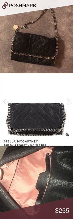 """Stella McCartney Falabella Shaggy Deer Flap Bag 🔴ALL OF MY PRODUCTS ARE 100% AUTHENTIC🔴 Great condition. Comes with a Stella McCartney pouch. Measurements: 7.00"""" height x 12.50"""" width x 2.50"""" depth. Has silver hardware Stella McCartney Bags Shoulder Bags"""