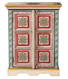 Fresh Hand Painted Indian Cabinets