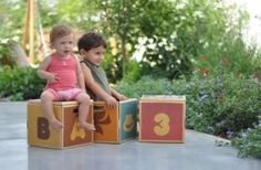 Storage boxes - that also double as step stools and seats!