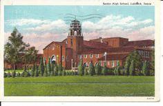 Vintage Postcard of Senior High School Lubbock, Texas 1944