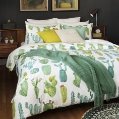 Tehuacán Valley duvet cover set | Simons #maisonsimons #brooklyn #loftstyle #decor #inspiration #bedroom #cactus #boho #pantone