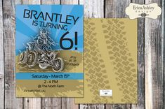 Four Wheeler-ATV Birthday Party- 5 X 7 - Professionally printed - Envelopes Included (Digital File Version Available)
