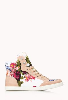 I LOVE SNEAKERS!  Favorite Floral Sneakers | FOREVER21 Sweet kicks  #Floral #Sneakers