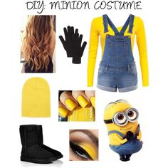 """DIY: MINION COSTUME"" by lizabet01 on Polyvore"